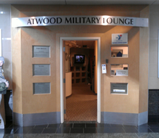 Exterior of Military Lounge at Anchorage Airport