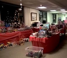 Toys on display in ASY welcome Center