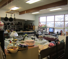 Interior of Thrift store at Ft. Wainwright