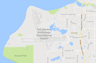 Map to Military Lounge at Anchorage Airport
