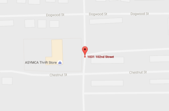 Map to ASYMCA Thrift Store on Ft. Wainwright