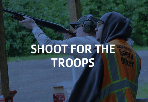 Click to learn more about our Shoot for the Troops Fundraiser