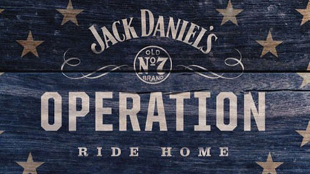 Jack Daniels Operation Ride Home decal on wood