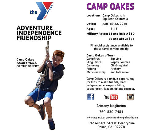 Camp Oakes Flyer