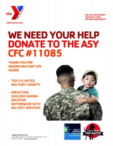 Donate CFC to top military charity armed services ymca
