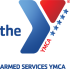 The ASYMCA Armed Services YMCA - A blue y with a red triangle and stars along the side.