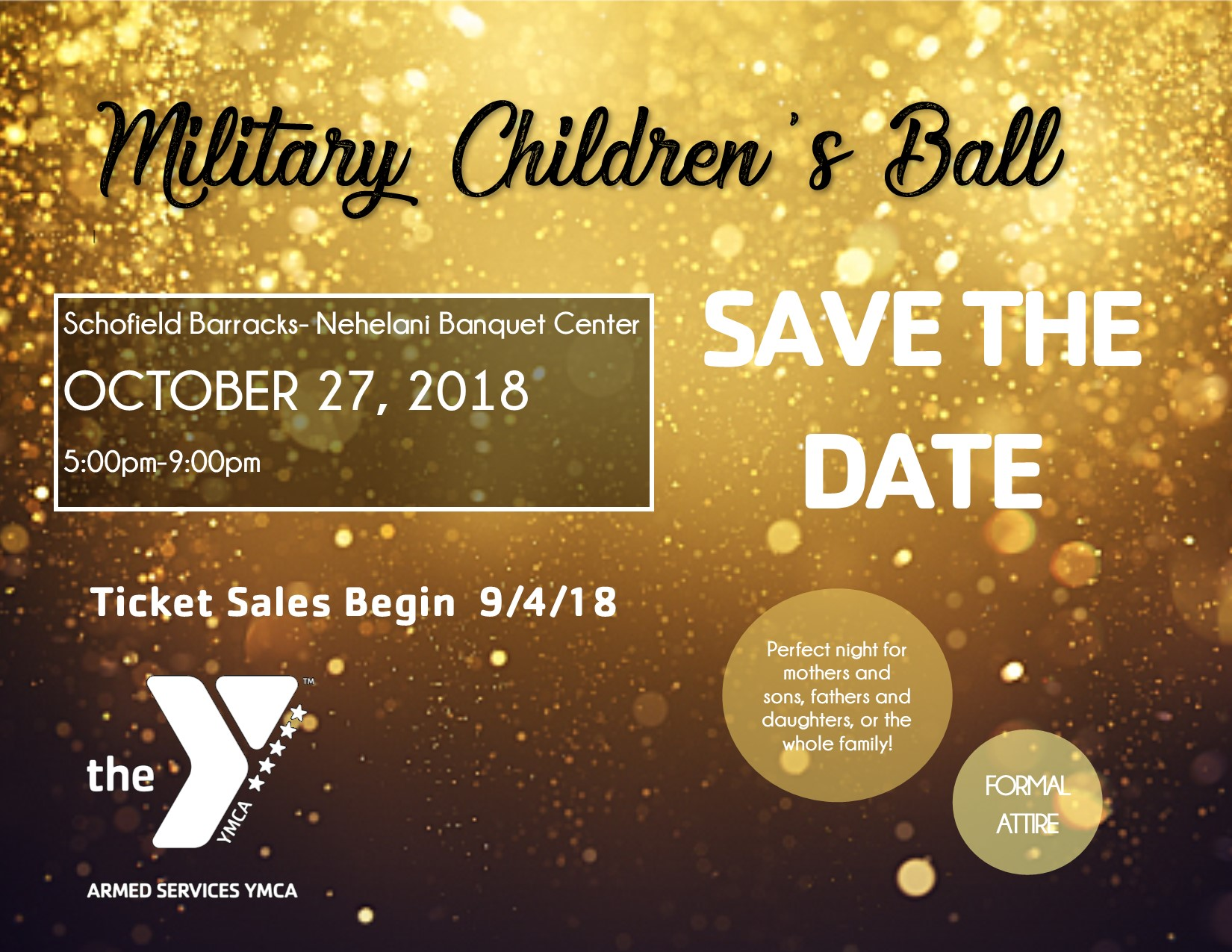 Save the Date Military Children's Ball Website