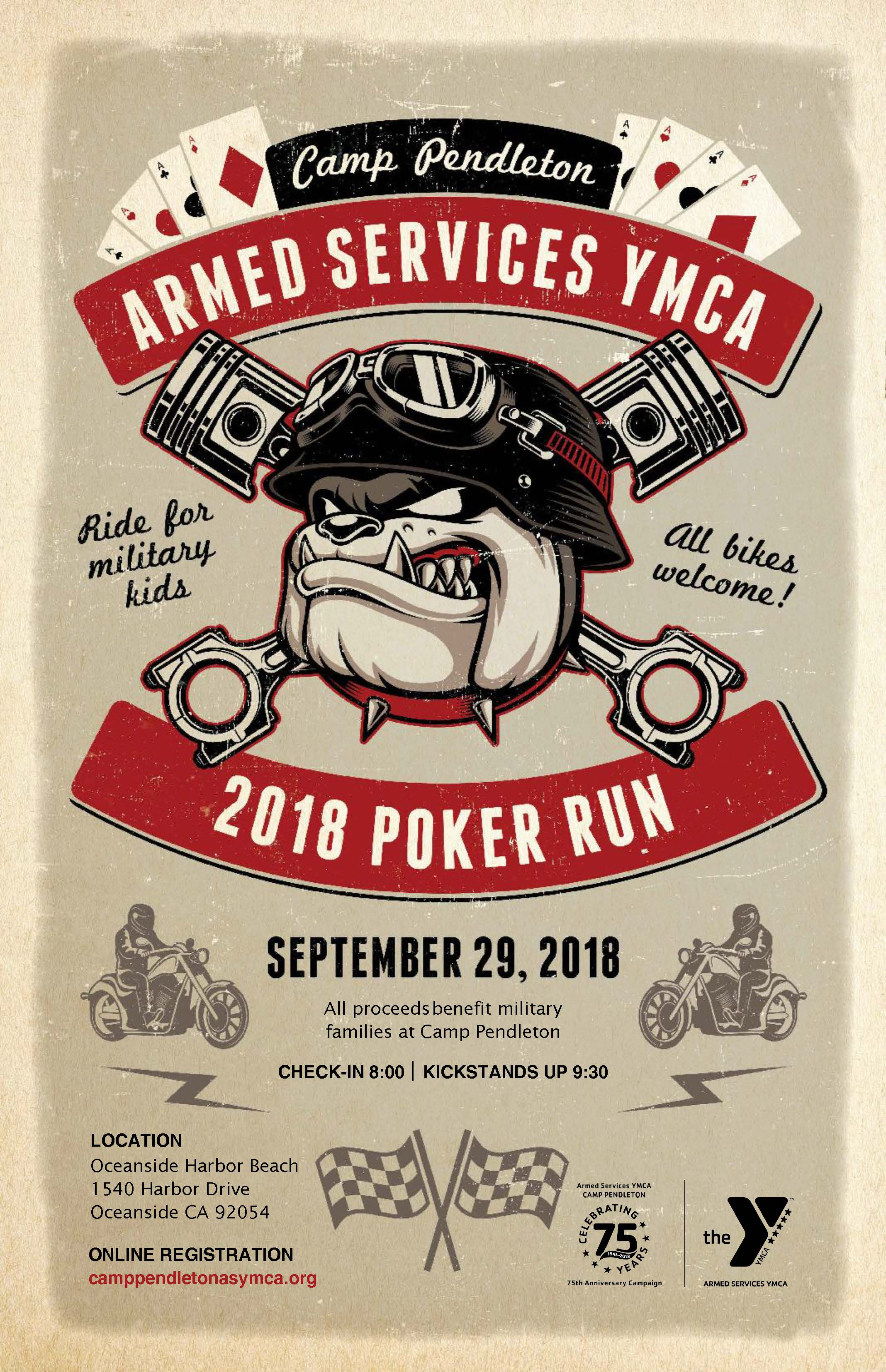 Save the date poker run