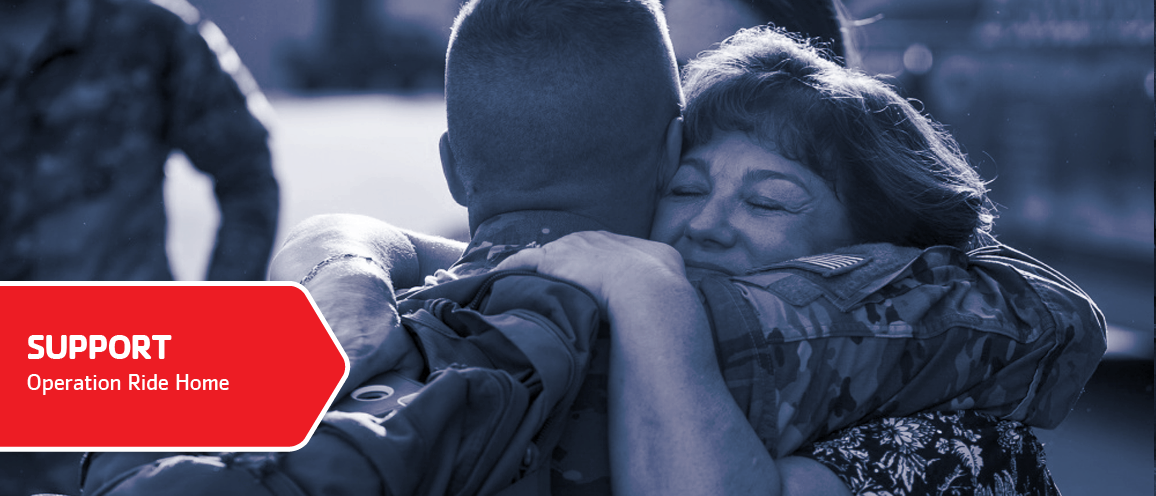 Operation Ride Home supports military well-being. Click to learn more.
